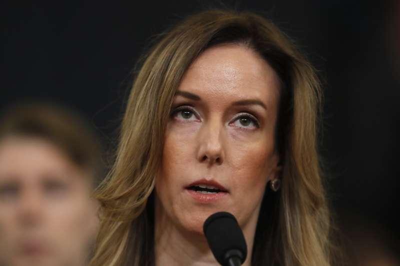 2019年11月19日,美國總統川普「烏克蘭門」彈劾案國會公開聽證會,副總統彭斯歐亞事務顧問威廉斯(Jennifer Williams)(AP)