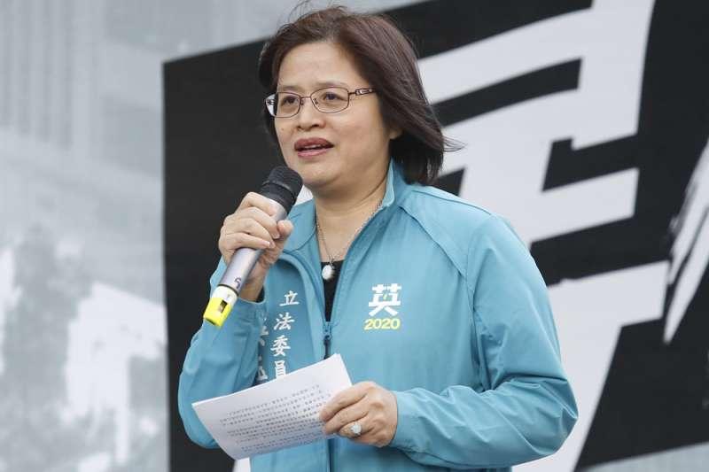 吳玉琴名列民進黨不分區名單第一,社工界群起譁然。(郭晉瑋攝)