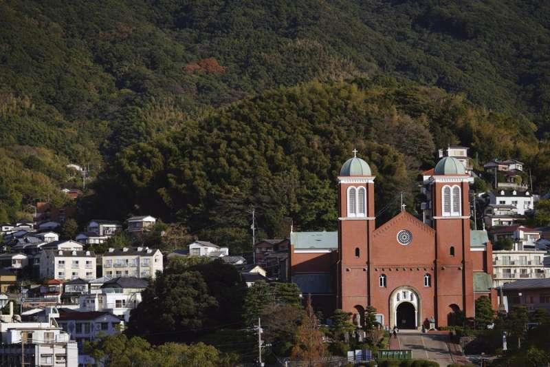 日本長崎浦上教堂。(AP)