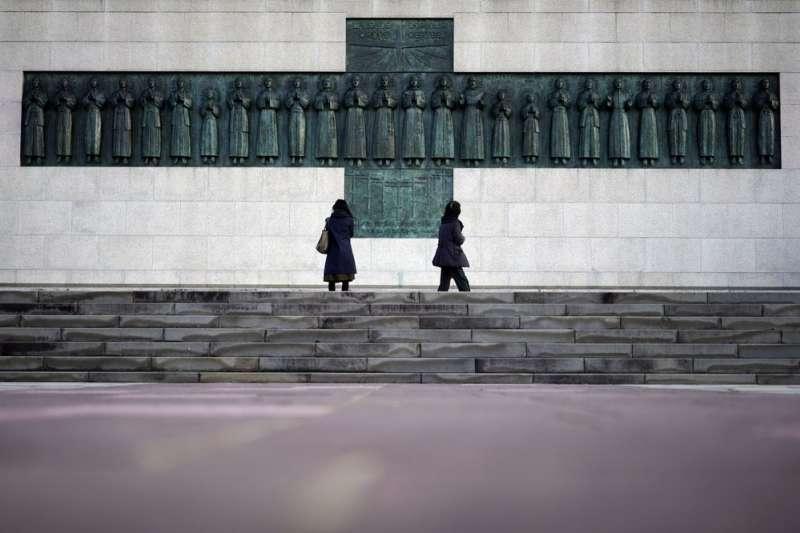 長崎26烈士紀念碑。(AP)
