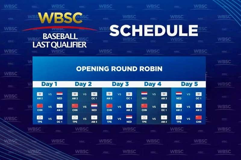 奧運棒球6搶1資格賽賽程出爐,中華隊首戰將面對大洋洲資格賽出線的隊伍。 (圖片取自WBSC Twitter)