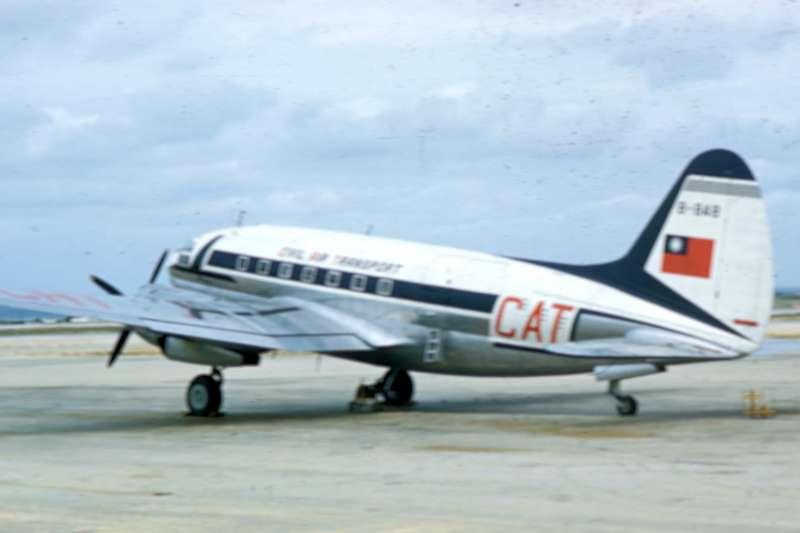 與涉事客機相似的C-46飛機。(示意圖/維基百科)