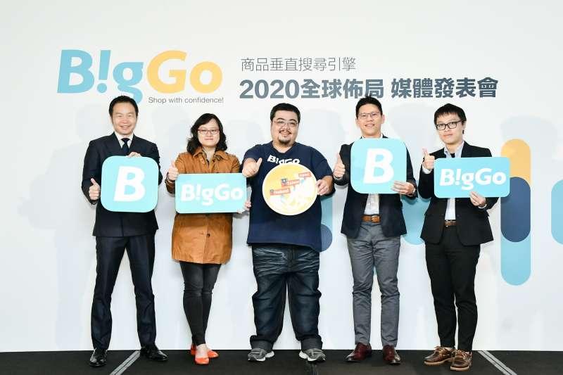 垂直商品搜尋引擎BigGo 21日舉辦全球佈局媒體發表會,邀請世界知名創投公司SOSV、統一國際開發、源鉑資本等投資夥伴出席。左起為源鉑資本創辦人暨執行長胡一天、SOSV全球 (圖/BigGo)