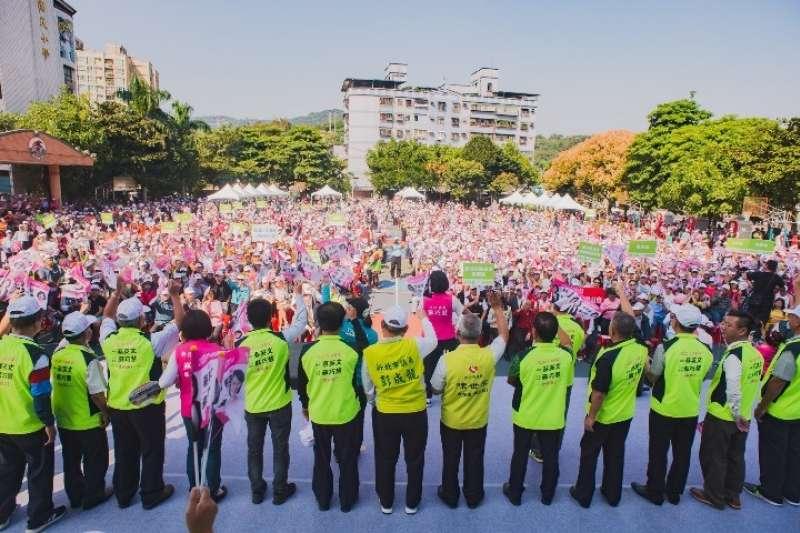 20191122-蘇巧慧上週日舉辦的《蔡英文蘇巧慧樹林聯合競選總部》成立大會,共湧進了近五千位熱情的支持民眾。(圖/蘇巧慧競選總部提供)