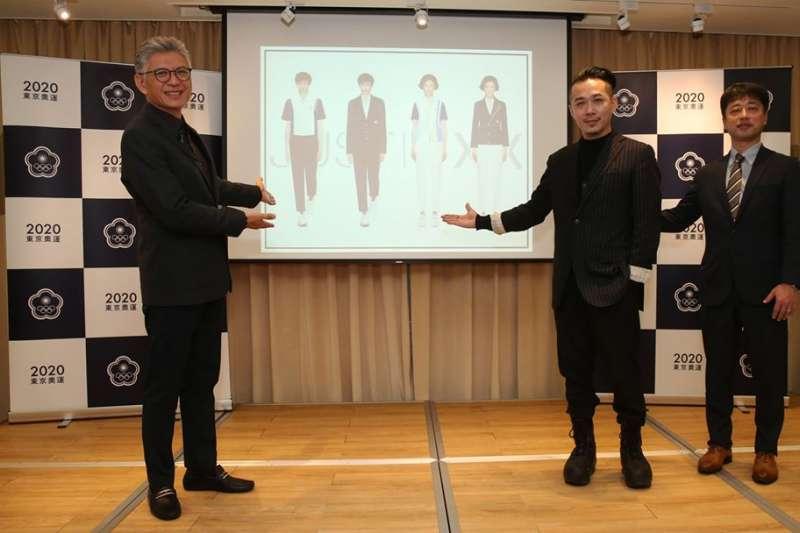 2020東京奧運「中華代表團進場服設計團隊」發布會22日舉行,本次中華代表團開閉幕式進場團服設計概念強調在地化,融入傳統窗花元素,搭配機能布料增加舒適性。(取自中華奧會粉絲頁)