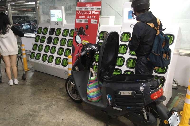 Gogoro 要求餐飲外送車主,不准使用騎到飽方案,引發爭議。(圖/李義章攝)