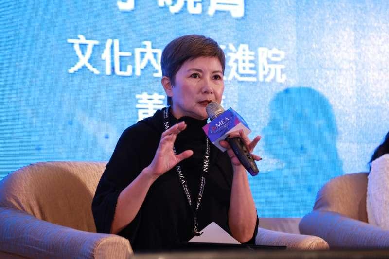 新媒體暨影視音發展協會(NMEA)25日舉辦亞洲新媒體高峰會。影一製作所總經理、《返校》監製李烈(見圖)談到,今年台灣電影扣除《返校》,並沒有破億票房電影。(NMEA提供)