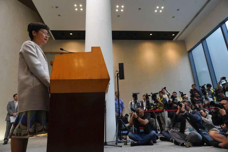 香港高院裁定林鄭政府《禁蒙面法》違憲,引發北京不滿。(美聯社)