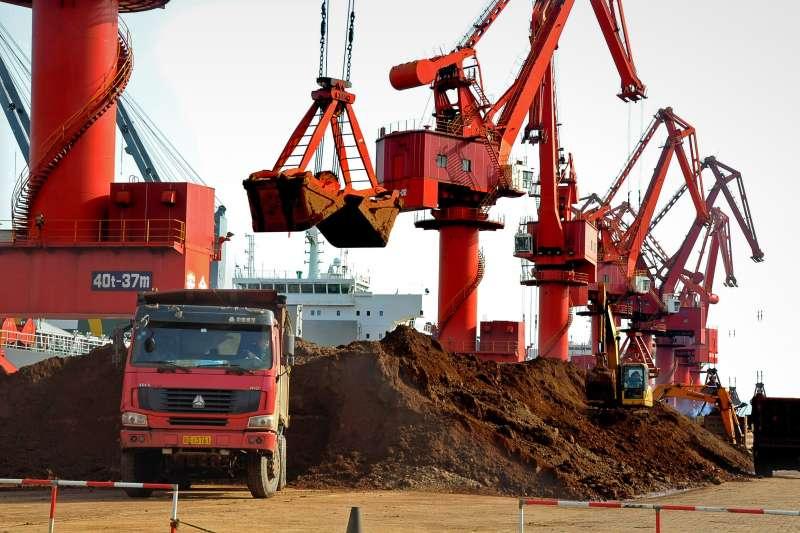 中國江蘇省稀土礦場(資料照,AP)