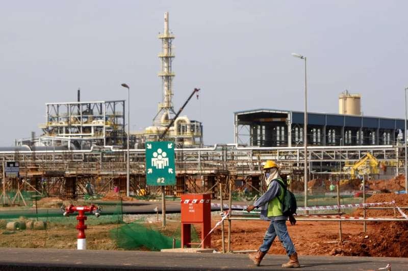 澳洲稀土礦商萊納斯在馬來西亞東部的加工廠(AP)