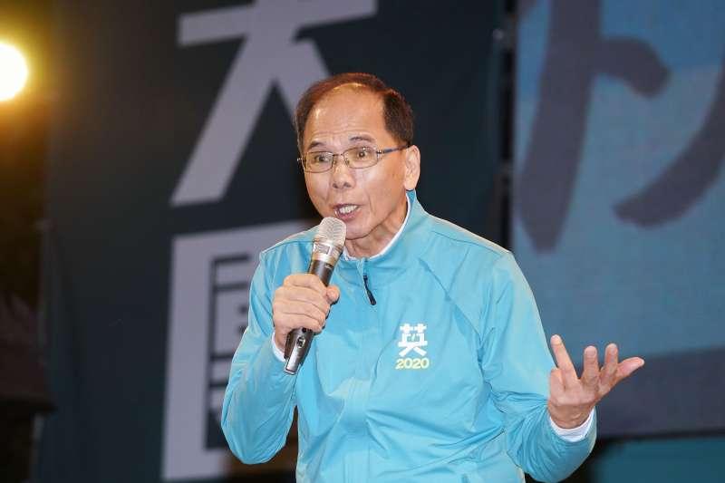 20191126-立委余天於26日舉行競選總部成立晚會,前行政院長游錫堃出席。(盧逸峰攝)