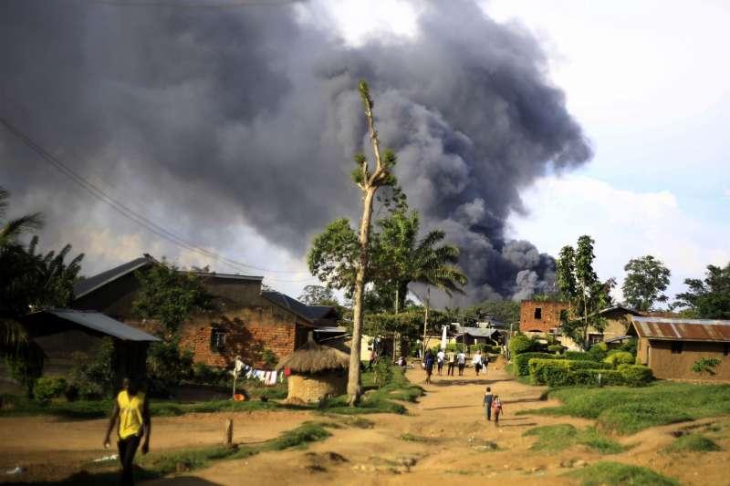 聯合國駐剛果民主共和國貝尼市機構遭示威群眾縱火(AP)