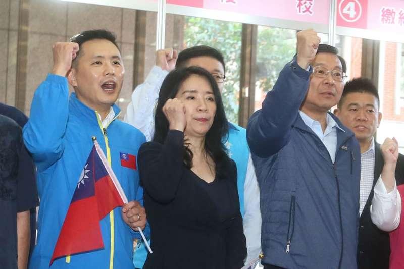 陳以信(左)以對美專長入選不分區,黨內卻有質疑之聲。(柯承惠攝)