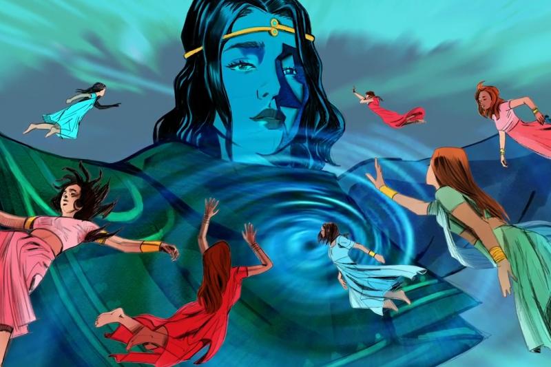漫畫Priyaand the Lost Girls描寫超級女英雄騎飛虎翱翔,施展女力對抗印度性犯罪和性販運倖存者蒙受的汙名。(圖/ Rattapallax@youtube)