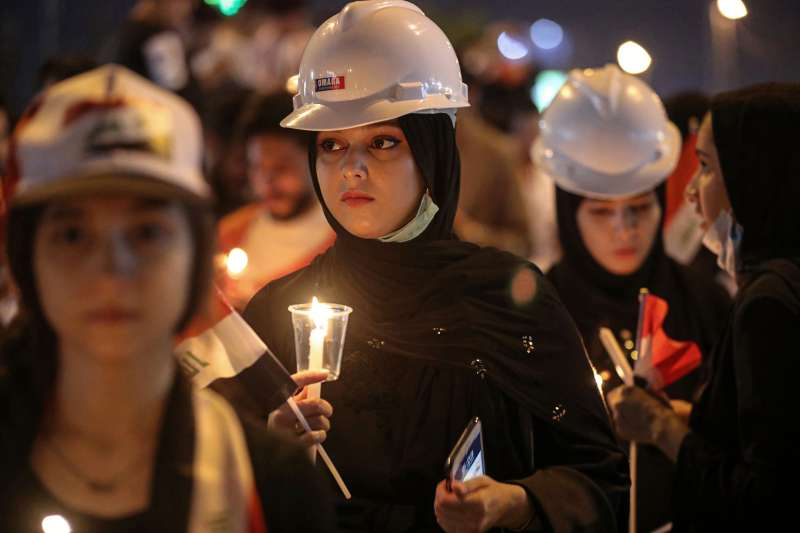 從2019年10月初開始,伊拉克爆發大規模示威抗議,安全部隊血腥鎮壓(AP)