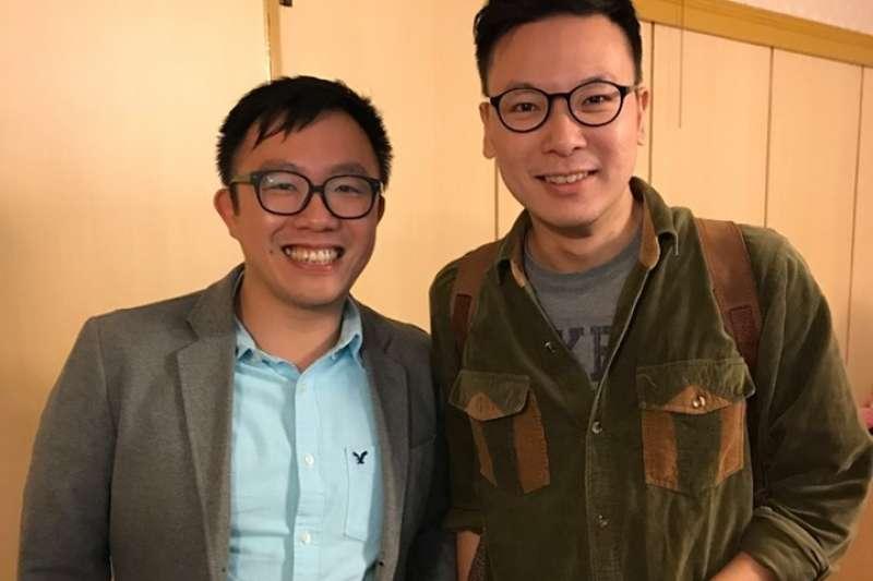 2017年論壇時,李志榮與林飛帆合照。(李志榮提供)