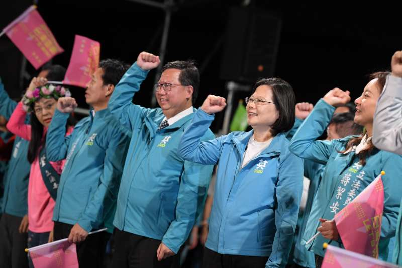 這個既不「民主」更不「進步」的黨,多年來,在台灣呼風喚雨,影響頗大,怪的是還有那麼多人支持。(蔡英文競辦提供)