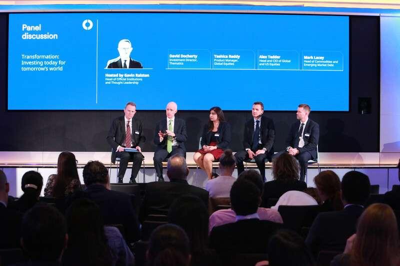 20191201-成立超過200年的施羅德資產管理公司(Schroders)11月14日在英國倫敦舉行全球投資論壇。(施羅德資產管理公司提供)