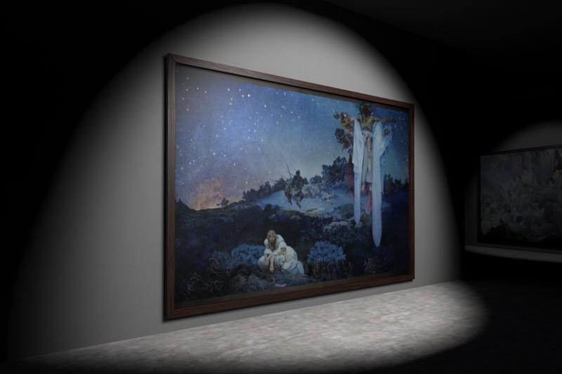 捷克慕夏基金會最新VR力作《斯拉夫史詩系列:原鄉的斯拉夫人》全球首展在故宮(圖/國立故宮博物院提供)