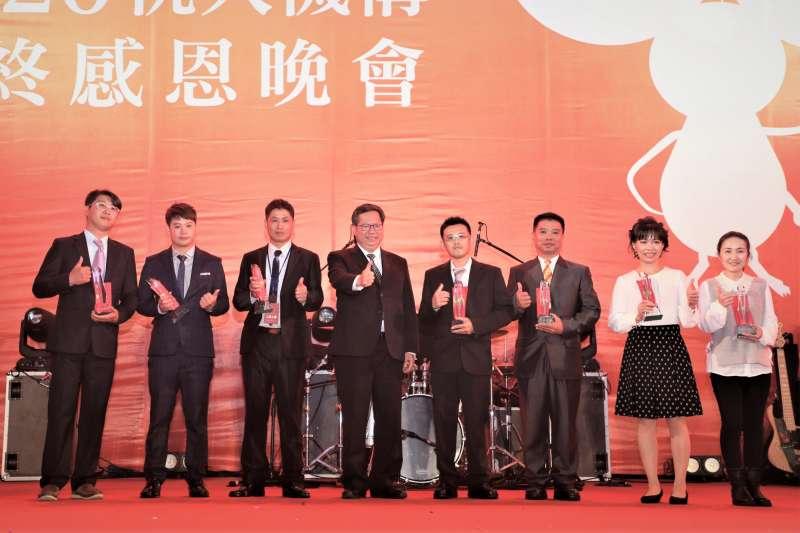 桃園市長鄭文燦參加桃大機構年終感恩晚會。(圖/桃大機構提供)