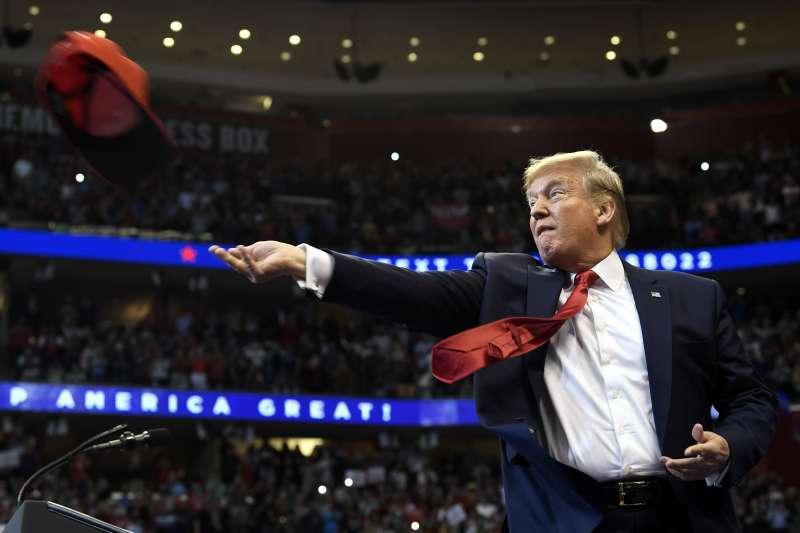 美國這次關切台灣大選的力度前所未有,圖為美國總統川普。(AP)