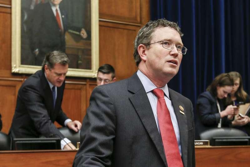 美國肯塔基州聯邦眾議員馬西(Thomas Massie)(資料照,AP)