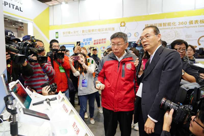 台北市長柯文哲5日上午出席台灣醫療科技展。(台北市政府提供)