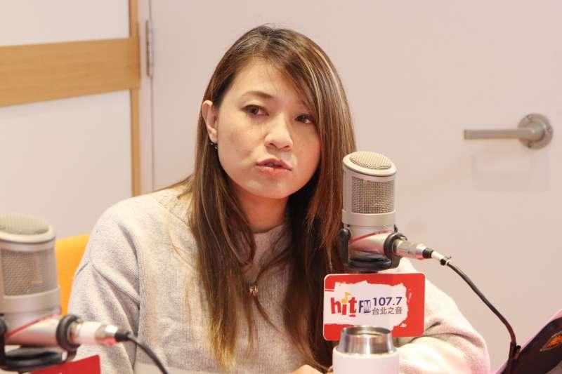 20191206-蔡英文總統連任辦公室發言人顏若芳6日上廣播專訪。(Hit Fm《周玉蔻嗆新聞》製作單位提供)