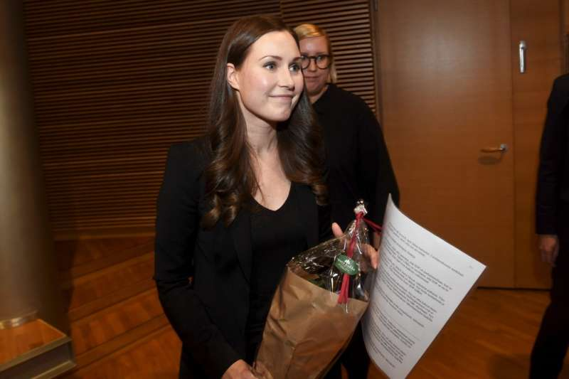 34岁的马林(Sanna Marin)成为芬兰史上最年轻总理(AP)