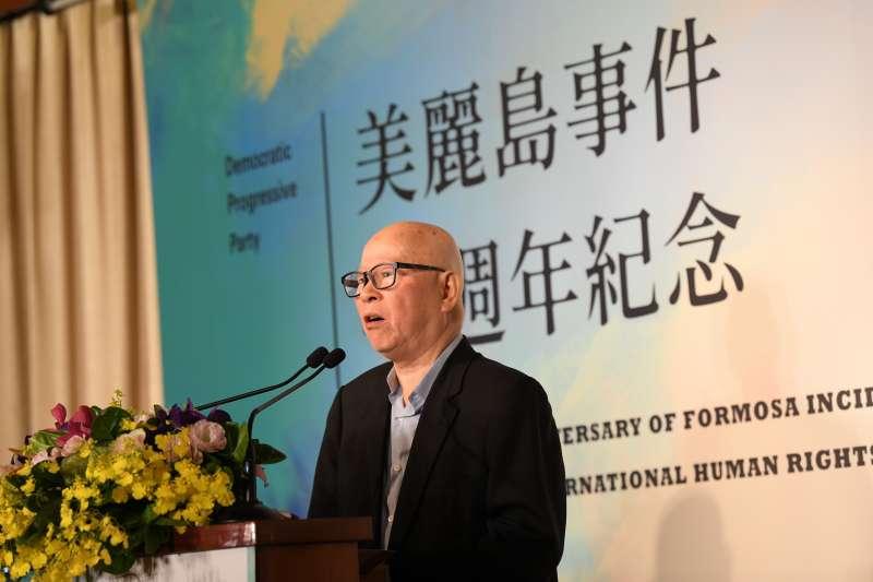 20191209-民進黨9日在圓山飯店舉辦「美麗島40週年紀念活動」。圖為民進黨前主席許信良。(民進黨提供)
