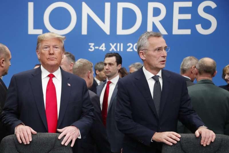 2019年12月,英國倫敦,北約70周年峰會(AP)