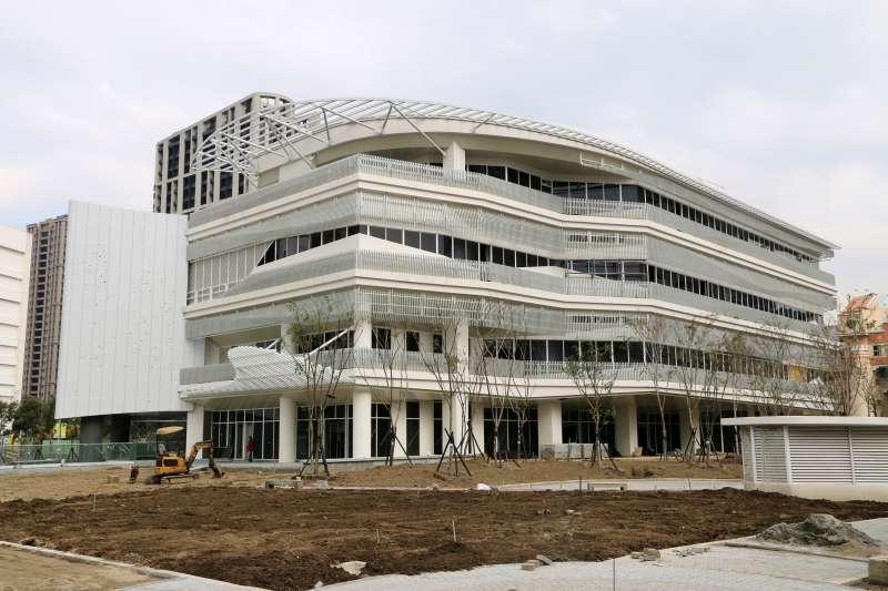 位於新莊的國家電影中心新場館,預計2021年完工啟用。(文化部提供)