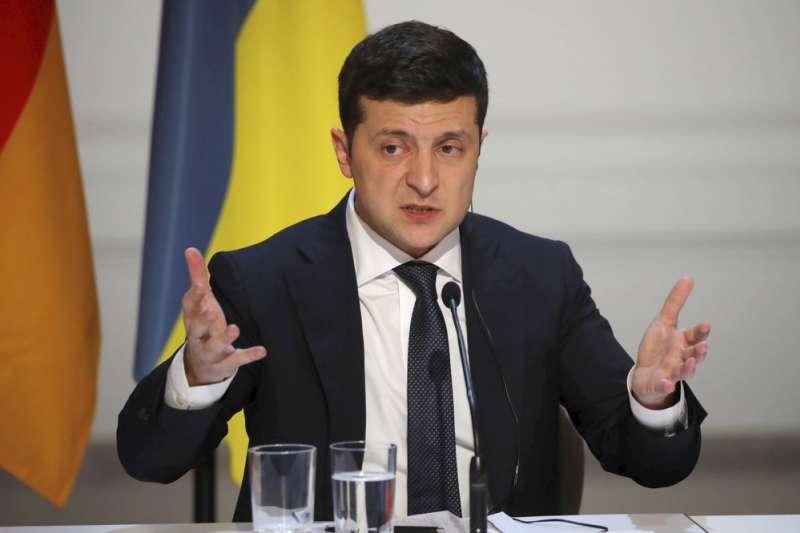 烏東衝突、俄烏衝突,依循「諾曼第模式」,俄羅斯總統普京9日與烏克蘭總統哲連斯基會面,同意停火。(AP)