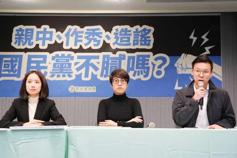 針對國民黨黨團10日召開《反滲透法》公聽會,轟民進黨催狂魔,民進黨下午舉行記者會反擊。(民進黨中央提供)