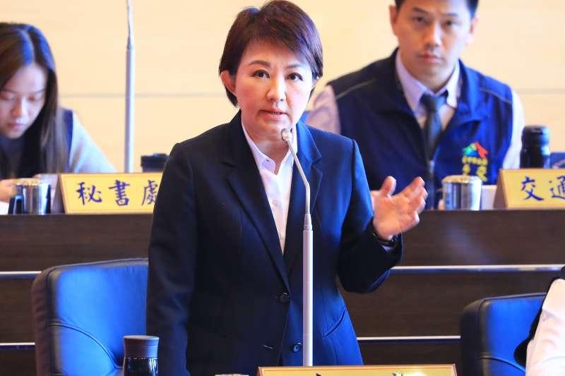 市議員質詢關切就職滿一年的施政,市長盧秀燕說需持續努力,好還要做得更好。(圖/臺中市政府提供)