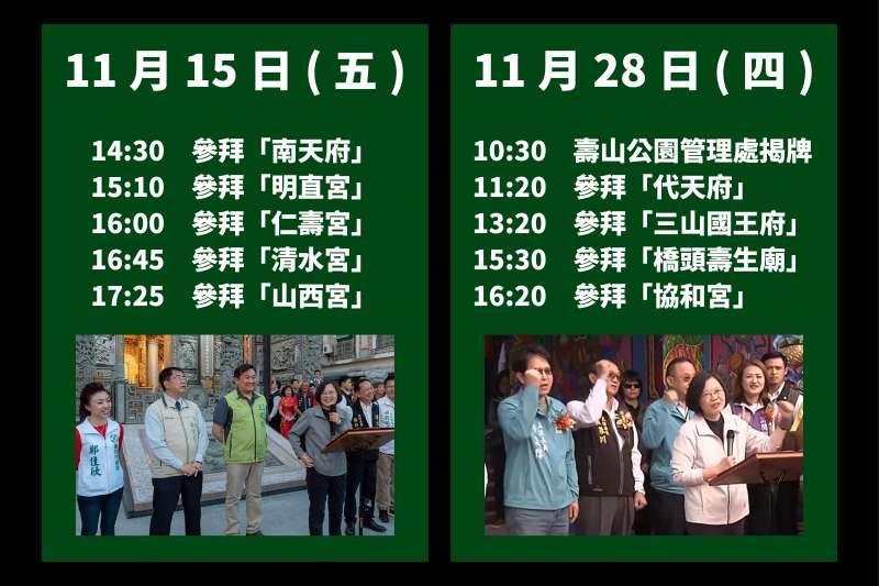 20191210-國民黨總統候選人韓國瑜競選辦公室10日召開記者會,針對總統蔡英文行程提出質疑。(韓國瑜競選辦公室提供)