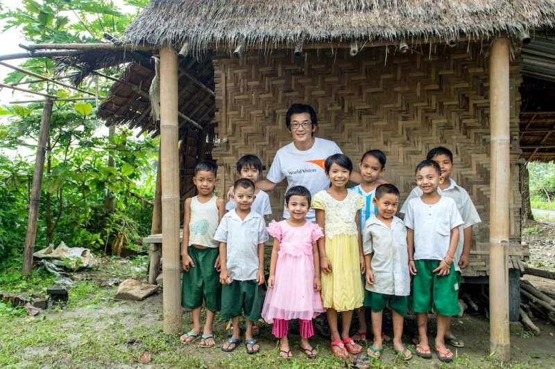 魏德聖表示,孩子們在這裡快樂地學習,對未來帶著龐大的夢,然而這樣的環境難以提供他們足夠的養分。(圖/台灣世界展望會提供)