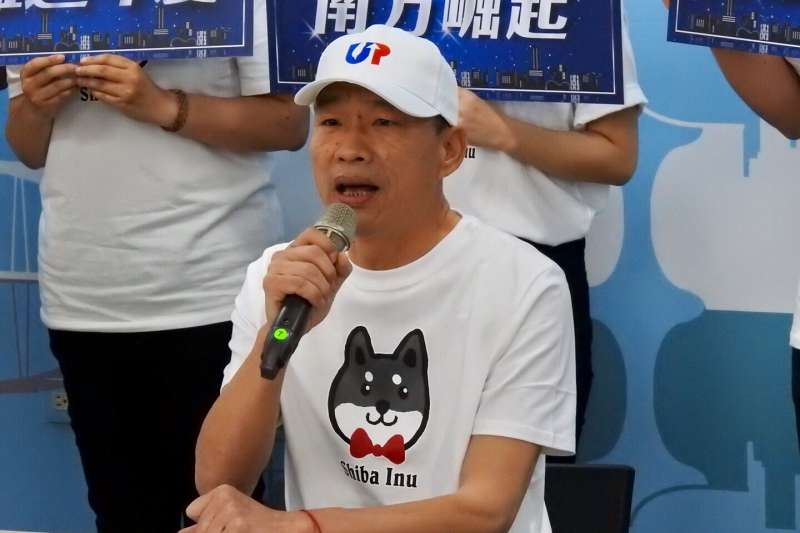 國民黨總統候選人韓國瑜11日在高雄舉行記者會,號召支持者參加高雄挺韓遊行。(韓競辦提供)
