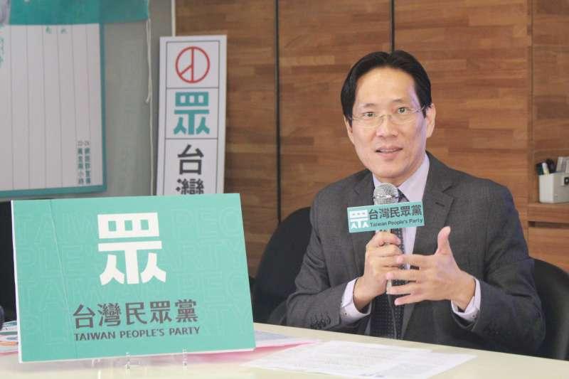 20191211-台灣民眾黨11日召開政策記者會,說明民眾黨的長照政策。不分區立委候選人張其祿出席。(方炳超攝)