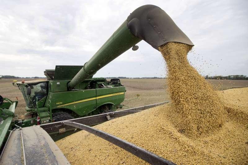 中美貿易戰,中美第一階段協議達成,白宮官員說中國同意明年將採購500億美元美國農產品,但中方並未證實。(AP)