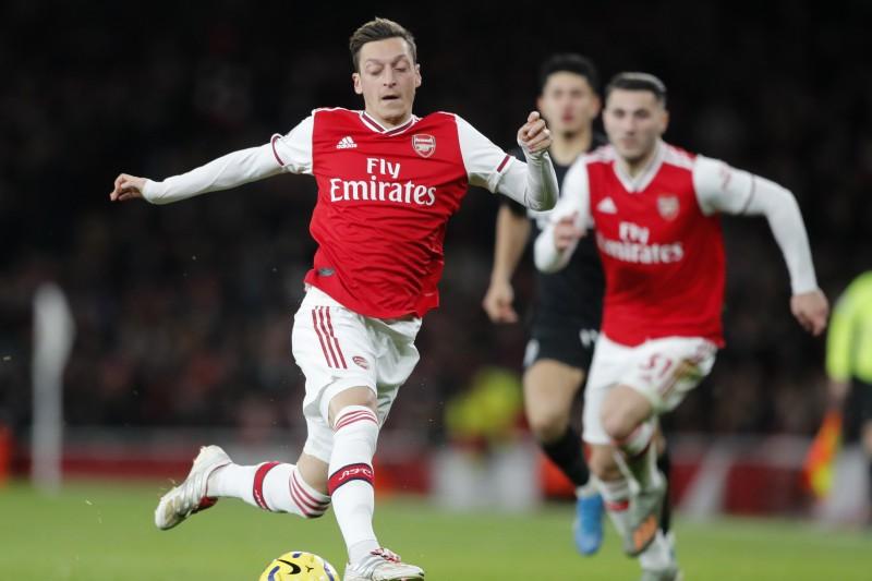 土耳其裔歐洲足球名將厄齊爾(Mesut Özil)(AP)