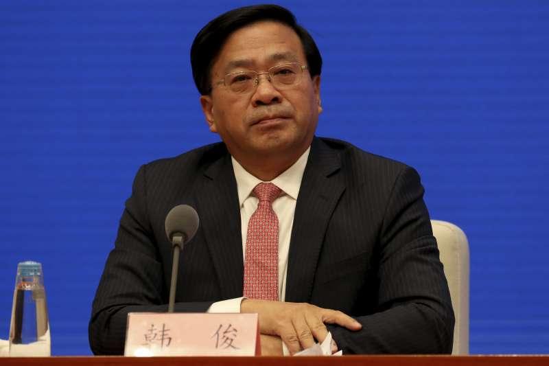 中國農業農村部副部長韓俊(AP)