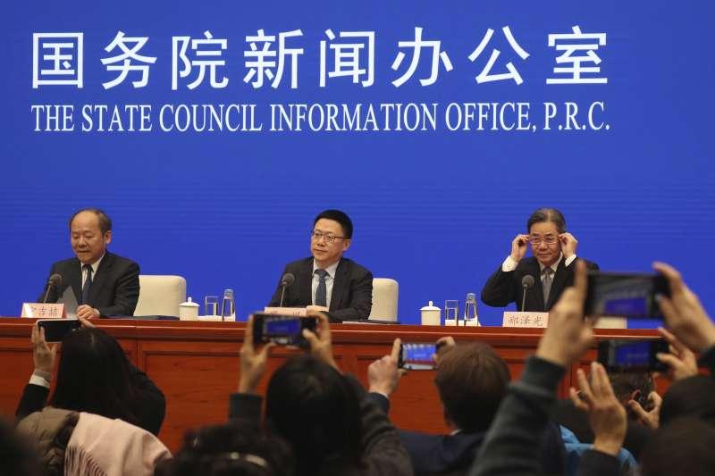 2019年12月13日,中國與美國分別宣布,雙方已就貿易談判達成第一階段協議。(AP)
