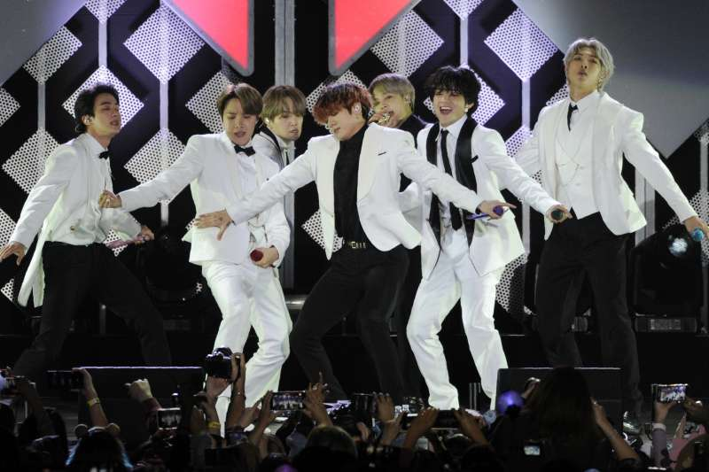 南韓男子偶像團體「防彈少年團」。(AP)