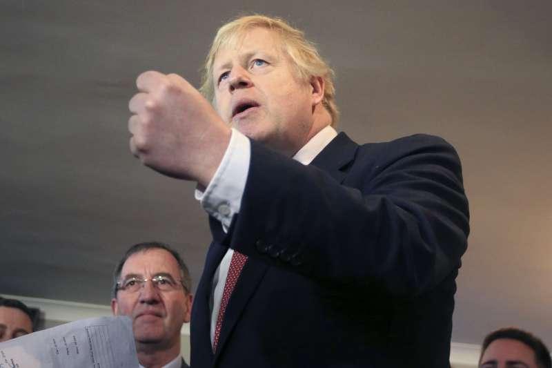 2019年英國大選,首相、保守黨領導人強森(Boris Johnson)大勝(AP)