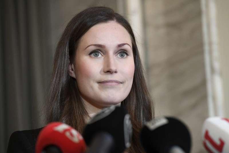 芬蘭新任女總理馬林(美聯社)