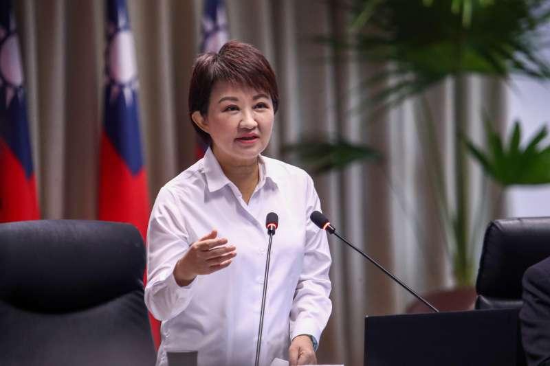 台中市長盧秀燕在市政會議中對於台中市改善空汙的行動,雖然有初步成果,也強調不滿足於目前成果,市府持續努力。(圖/臺中市政府提供)