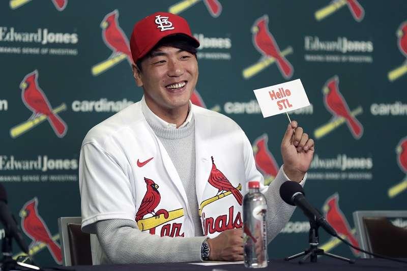 金廣炫以2年800萬美元加入紅雀。(美聯社)