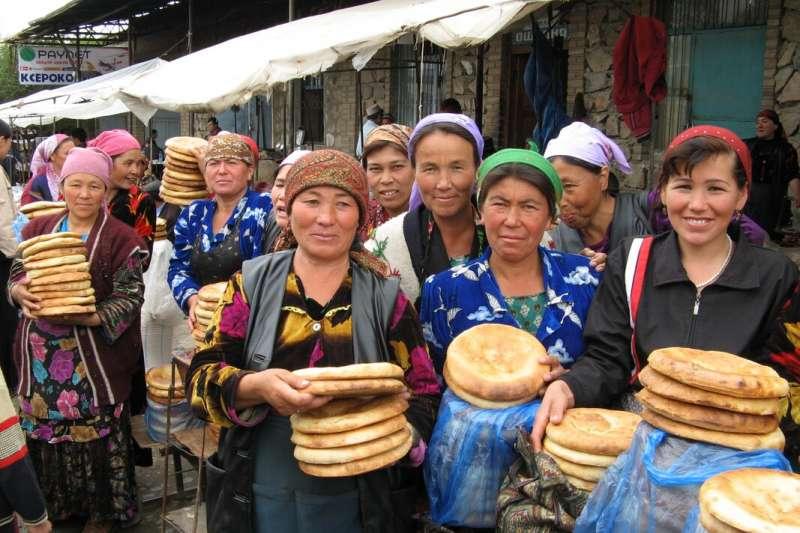 中亞國家烏茲別克的市集(Wikipedia / Public Domain)