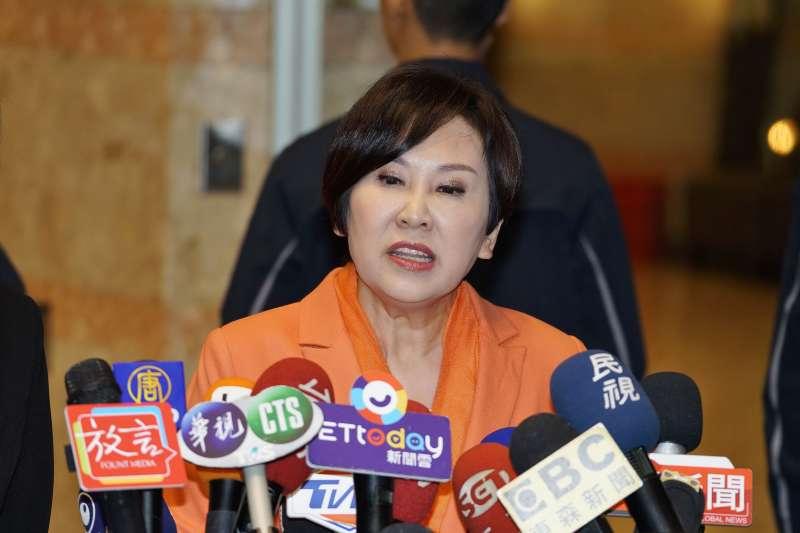 20191220-親民黨副總統參選人余湘20日出席電視政見辯論會。(盧逸峰攝)